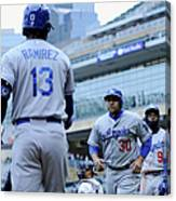 Dee Gordon, Hanley Ramirez, and Miguel Olivo Canvas Print