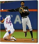 Dee Gordon, Michael Conforto, and James Loney Canvas Print