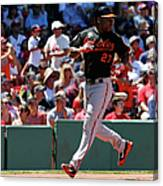 Delmon Young and Xander Bogaerts Canvas Print