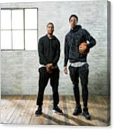 Demar Derozan and Kyle Lowry Canvas Print