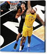 Demarcus Cousins and Aaron Gordon Canvas Print