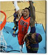 Demarcus Cousins and Russell Westbrook Canvas Print