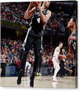 Derrick White Canvas Print