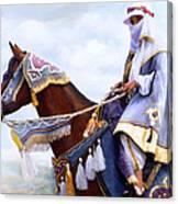 Desert Arabian Native Costume Horse And Girl Rider Canvas Print