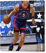 Detroit Pistons v Orlando Magic Canvas Print
