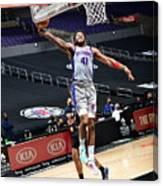 Detroit Pistons vs. Los Angeles Clippers Canvas Print