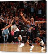 Dion Waiters and Dwyane Wade Canvas Print