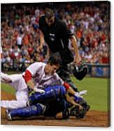 Dioner Navarro and Chase Utley Canvas Print