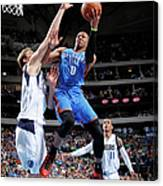 Dirk Nowitzki and Russell Westbrook Canvas Print