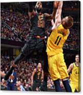 Domantas Sabonis and Lebron James Canvas Print