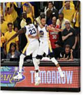 Draymond Green and Stephen Curry Canvas Print