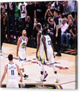 Draymond Green, Stephen Curry, and Kevin Durant Canvas Print