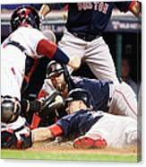Dustin Pedroia and Brock Holt Canvas Print