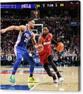 Dwyane Wade and Ben Simmons Canvas Print