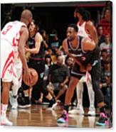 Dwyane Wade and Chris Paul Canvas Print