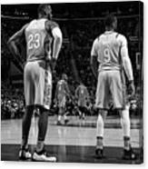 Dwyane Wade and Lebron James Canvas Print