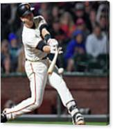 Eduardo Nunez and Buster Posey Canvas Print