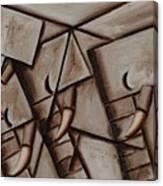ATommervik bstract Elephant Herd Geometric Animal  Wall Art Print Canvas Print