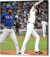 Elvis Andrus And Chris Sale Canvas Print