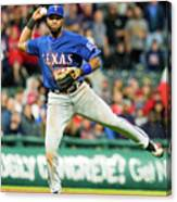 Elvis Andrus and Francisco Lindor Canvas Print