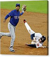 Elvis Andrus and George Springer Canvas Print