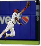 Elvis Andrus and Manny Machado Canvas Print
