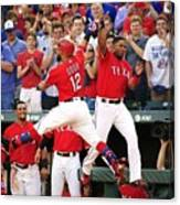 Elvis Andrus and Rougned Odor Canvas Print