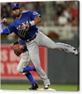 Elvis Andrus and Taylor Motter Canvas Print
