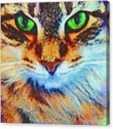 Emerald Gaze Canvas Print