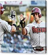 Ender Inciarte and Chris Owings Canvas Print