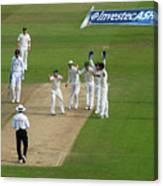 England v Australia: 1st Investec Ashes Test - Day Three Canvas Print