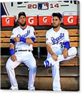 Eric Hosmer and Alex Gordon Canvas Print