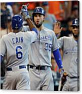 Eric Hosmer and Lorenzo Cain Canvas Print