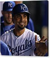 Eric Hosmer and Omar Infante Canvas Print