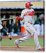Erick Aybar and Stephen Vogt Canvas Print