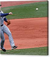Evan Longoria and Dustin Pedroia Canvas Print