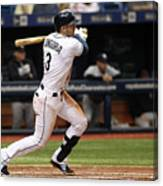 Evan Longoria and Hank Conger Canvas Print