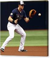 Evan Longoria and Mike Trout Canvas Print