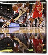 Evan Turner and Dwyane Wade Canvas Print