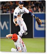 Everth Cabrera and Chris Heisey Canvas Print