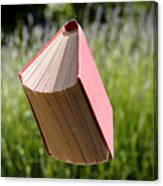 Floating Book Canvas Print