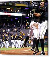 Francisco Cervelli and Gregory Polanco Canvas Print