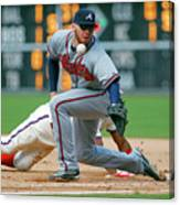 Freddie Freeman and Jimmy Rollins Canvas Print