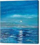 Full Moon Seascape Canvas Print