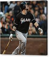 Garrett Jones and Jarrod Saltalamacchia Canvas Print