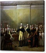 General Washington Resigning His Commission Canvas Print