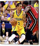 George Hill and Lebron James Canvas Print