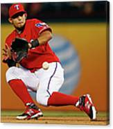 George Springer and Rougned Odor Canvas Print