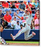 Gerald Laird and Chase Utley Canvas Print