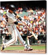 Gorkys Hernandez and Buster Posey Canvas Print